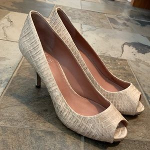 Shoes - Vince Camuto Cream Snakeskin type Pumps